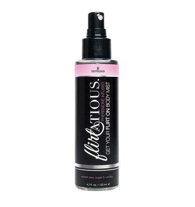 Sensuva Flirtatious Vanilla, Sugar, & Sweet Pea Pheromone Body Mist 125 m - Mgiełka do ciała