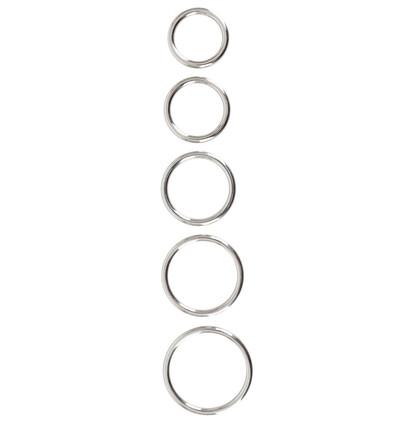 Bad Kitty Metall-Ringe 5Er - Zestaw metalowych pierścieni erekcyjnych
