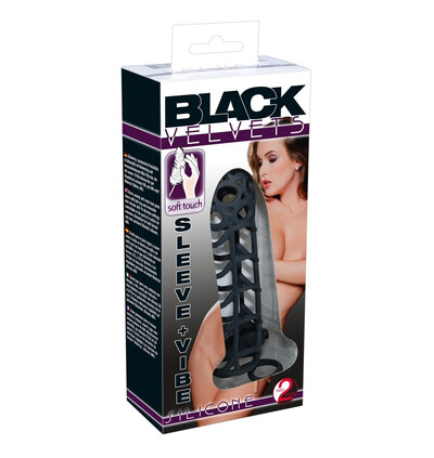 Black Velvets Sleeve Vibe Rocky - Wibrująca nakładka na penisa