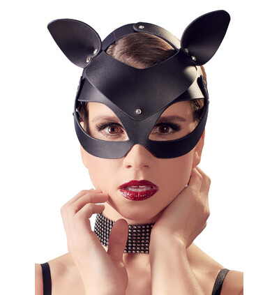 Bad Kitty Cat Mask Rhinestones - Maska BDSM na twarz