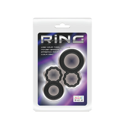 Baile Cock Rings - zestaw podwójnych pierścieni erekcyjnych