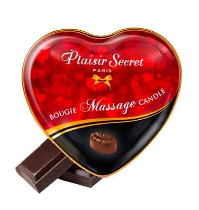 Plaisir secrets Massage Candle CHOCOLATE - Świeca do masażu, zapach czekolady
