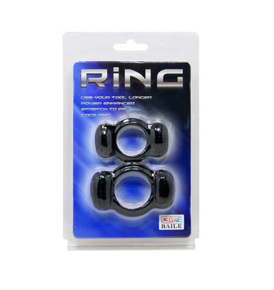 Baile Double Cock Ring - zestaw elastycznych pierścieni erekcyjnych