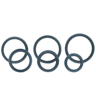 Boners Wide Cockring Set - zestaw elastycznych pierścieni erekcyjnych