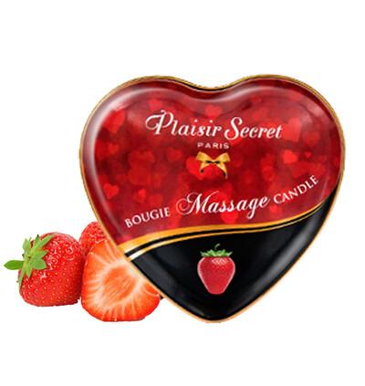 Plaisir secrets Massage Candle STRAWBERRY - Świeca do masażu, zapach truskawek