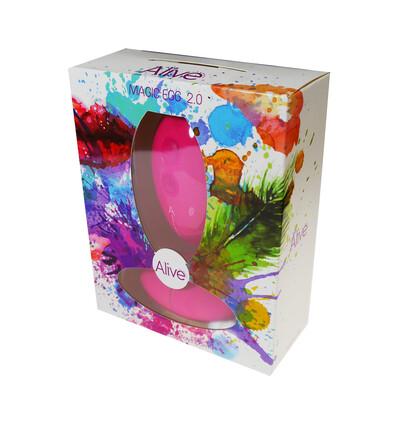 Cnex Egg Remote Control 10 Pink - Wibrujące jajeczko sterowane pilotem, różowe