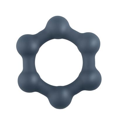 Boners Hexagon Cock Ring - elastyczny pierścień erekcyjny