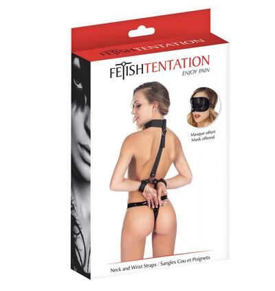 Fetish tentation Neck and Wrist Straps - obroża z kajdankami