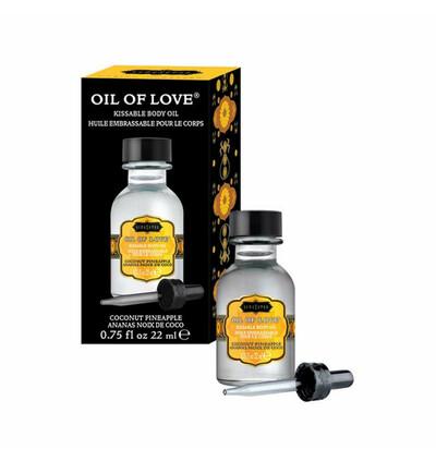 Kama Sutra Oil of Love Coconut Pineapple 22 ml - Olejek stymulujący, Annasowy