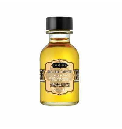 Kama Sutra Oil of Love Vanilla Creme 22 ml - Olejek stymulujący, Waniliowy