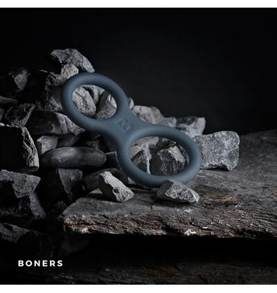 Boners Silicone Cock Ring And Ball Stretcher - Elastyczny pierścień erekcyjny