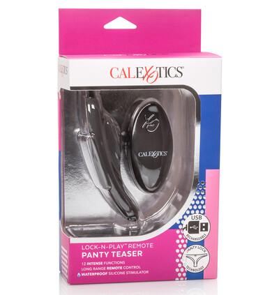 CalExotics Lock N Play Remote Panty Teaser - Wibrator łechtaczkowy do bielizny, sterowany pilotem