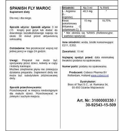 Cobeco Spanish Fly Maroc - środek zwiększający libido