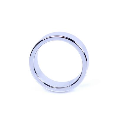 Boss Series Metal Cock Ring Medium - metalowy pierścień erekcyjny