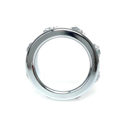 Boss Series Metal Ring Cristal Diamonds S - Metalowy pierścień erekcyjny