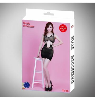 Body Pleasure Sukienka - Dress Tl46 Black - sukienka, czarny