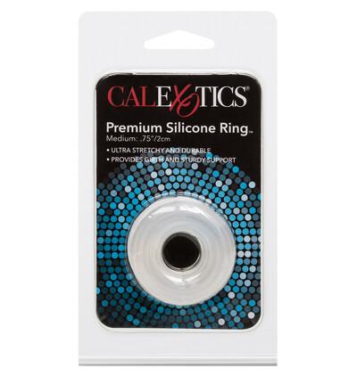 California Exotic Novelties Premium Silicone Ring Medium - Elastyczny pierścień erekcyjny