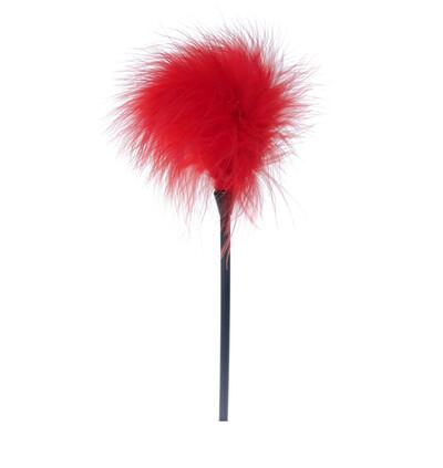 Boss Series Feather Tickler Red - Piórko do łaskotania, czerwone