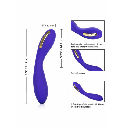 CalExotics Estim Wand - Wibrator do punktu G z elektrostymulacją