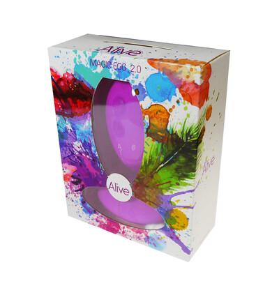 Cnex Egg Remote Control 10 Violet - Wibrujące jajeczko sterowane pilotem, fioletowe