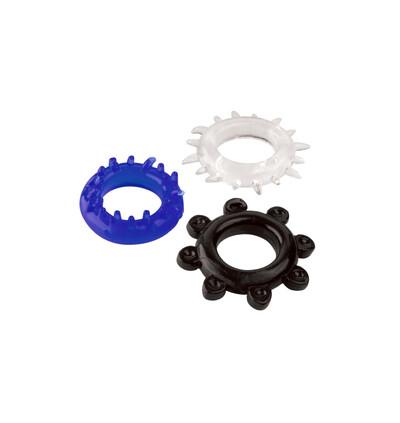 Boss Series C Ring Set Color - Zestaw elastycznych pierścieni erekcyjnych