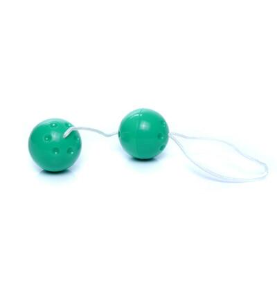 Boss Series Duo Balls Green - Kulki gejszy, zielone
