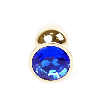 Boss Series Jewellery Gold Dark Blue - Korek analny, niebieski