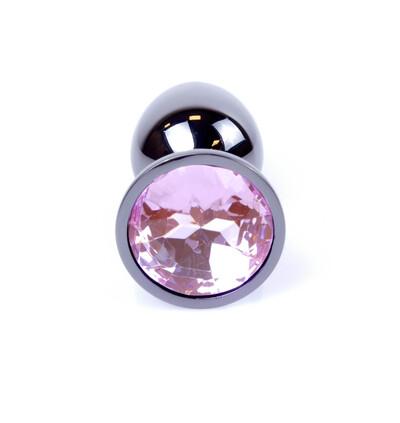 Boss Series Jewellery Dark Silver Rose - Korek analny, jasnoróżowy