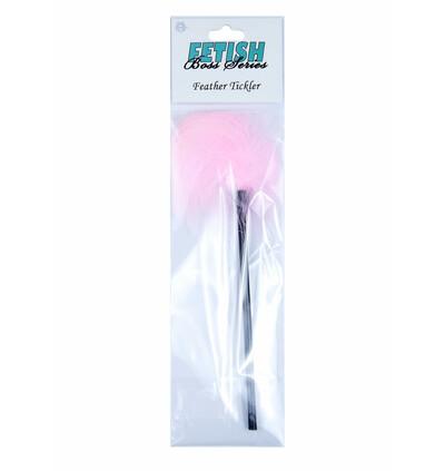Boss Series Feather Tickler Pink - Piórko do łaskotania, różowe