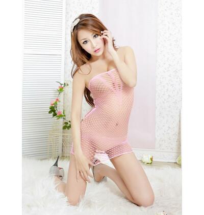Body Pleasure Dress Tl51 Pink - sukienka, różowy
