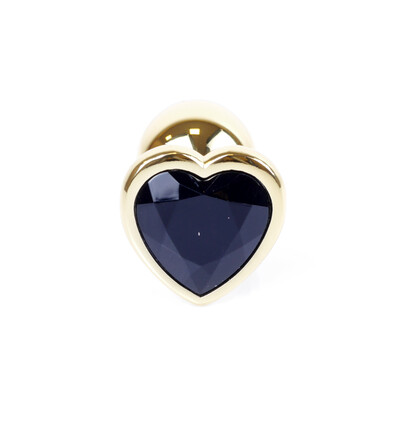 Boss Series Jewellery Gold Heart Black - Korek analny, fioletowy