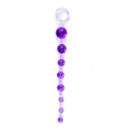 Boss Series Jelly Anal 10 Beads Purple - Koraliki analne, fioletowe
