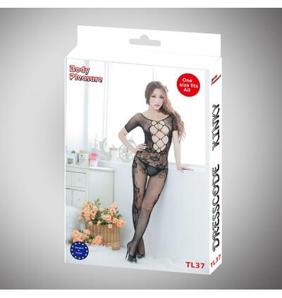 Body pleasure Tl 37 black - bodystocking, czarny
