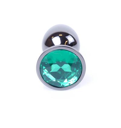 Boss Series Jewellery Dark Silver Green - Korek analny, zielony