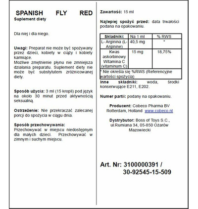 Cobeco Spanish Fly Red - środek zwiększający libido