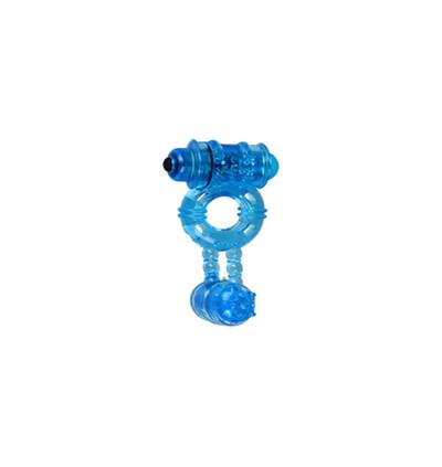 Cnex Double Func 1 Blue - Wibrujący pierścień erekcyjny