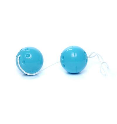 Boss Series Duo Balls Blue - Kulki gejszy, niebieskie