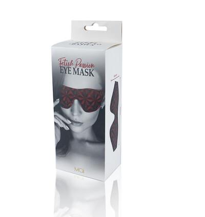 Btb Fetish Eye Mask - maska na oczy, czerwona