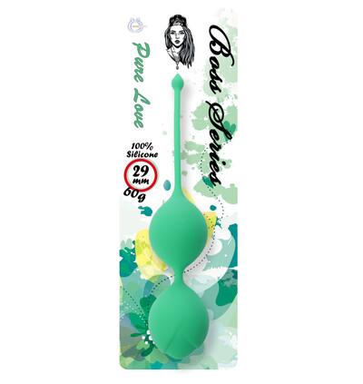 Boss Series Silicone Kegel Balls 60G Green - Kulki gejszy, zielone