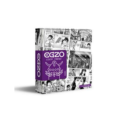 EGZO Jolly Roger - Prezerwatywa 1szt ze specjalnymi wypustkami