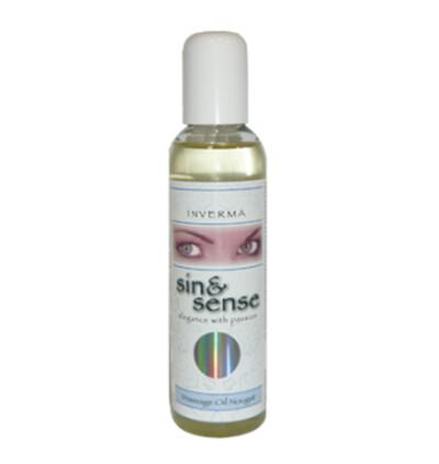 Inverma Sin&Sense Massage Oil Nougat 150 Ml - Olejek do masażu