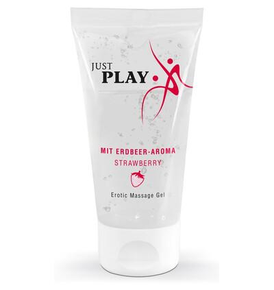 Just Play Strawberry 50 Ml - Żel do masażu truskawkowy