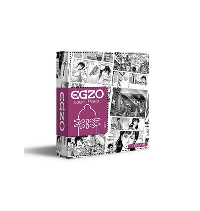 EGZO Hot Red - Prezerwatywa 1szt ze specjalnymi wypustkami