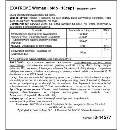 HOT Exxtreme Libido Caps Woman 10 szt - Kapsułki na libido