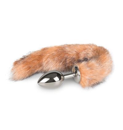 Easy Toys Fox tail 04 - Korek analny z ogonkiem, Brązowy