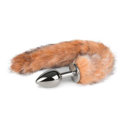 Easy Toys Fox tail 03 - Korek analny z ogonkiem, Brązowy