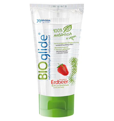 JoyDivision Bioglide'Strawberry' 80 Ml - Naturalny lubrykant na bazie wody, truskawkowy