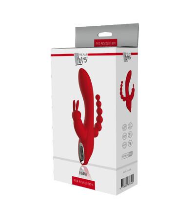 Dream Toys Red Revolution Hera - Wibrator króliczek do potrójnej stymulacji