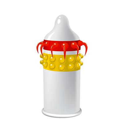 EGZO Lucky Dude - Prezerwatywa 1szt ze specjalnymi wypustkami