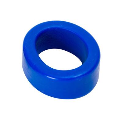 Doc Johnson Titanmen Cockring Blue - Elastyczny pierścień erekcyjny
